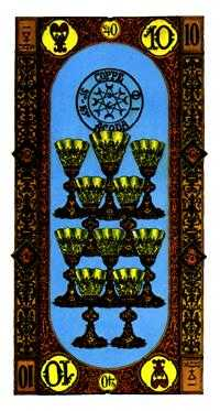 Ten of Cups Tarot Card - Stairs Tarot Deck