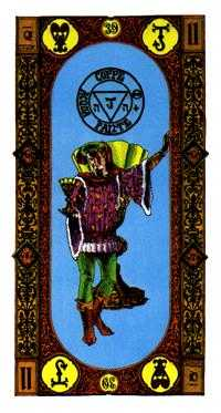 Slave of Cups Tarot Card - Stairs Tarot Deck