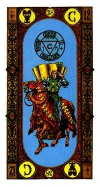 Knight of Ghosts Tarot Card - Stairs Tarot Deck