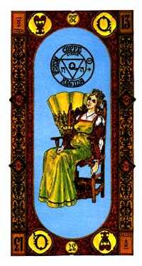 Queen of Ghosts Tarot Card - Stairs Tarot Deck