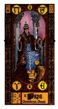 The Pope Tarot Card - Stairs Tarot Deck