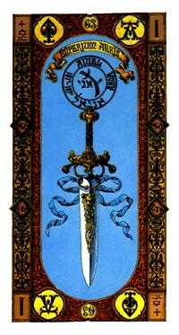Ace of Swords Tarot Card - Stairs Tarot Deck