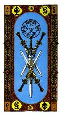 Five of Swords Tarot Card - Stairs Tarot Deck
