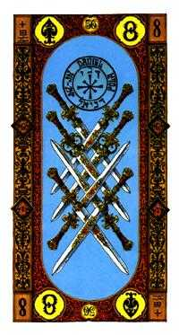 Eight of Swords Tarot Card - Stairs Tarot Deck