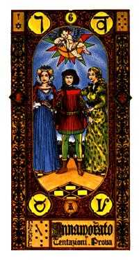The Lovers Tarot Card - Stairs Tarot Deck