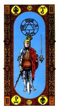 Slave of Swords Tarot Card - Stairs Tarot Deck
