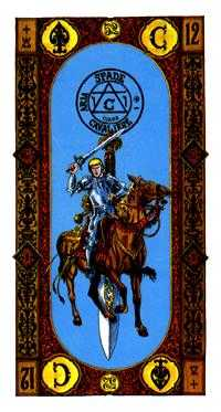 Warrior of Swords Tarot Card - Stairs Tarot Deck
