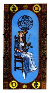Queen of Spades Tarot Card - Stairs Tarot Deck