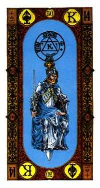 King of Swords Tarot Card - Stairs Tarot Deck