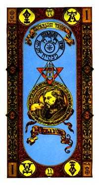 Ace of Discs Tarot Card - Stairs Tarot Deck
