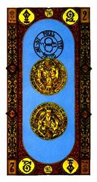 Two of Coins Tarot Card - Stairs Tarot Deck