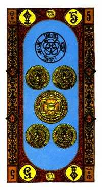 Five of Pentacles Tarot Card - Stairs Tarot Deck
