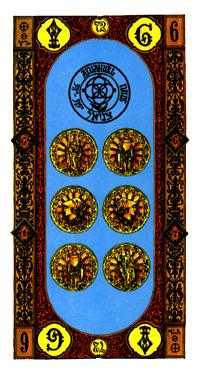 Six of Pentacles Tarot Card - Stairs Tarot Deck