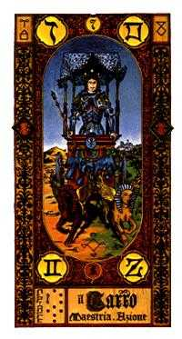 The Chariot Tarot Card - Stairs Tarot Deck