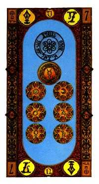 Seven of Coins Tarot Card - Stairs Tarot Deck