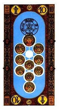 Ten of Rings Tarot Card - Stairs Tarot Deck