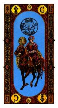 Cavalier of Coins Tarot Card - Stairs Tarot Deck