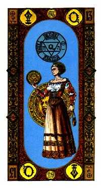 Queen of Coins Tarot Card - Stairs Tarot Deck