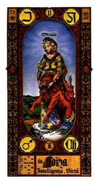 Strength Tarot Card - Stairs Tarot Deck