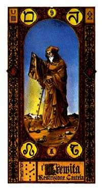 The Hermit Tarot Card - Stairs Tarot Deck
