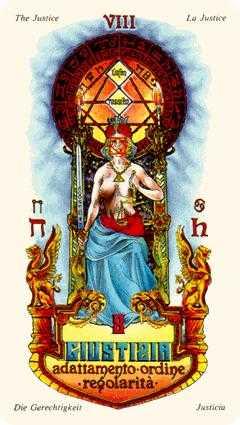 Justice Tarot Card - Stars Tarot Deck
