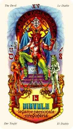 The Devil Tarot Card - Stars Tarot Deck