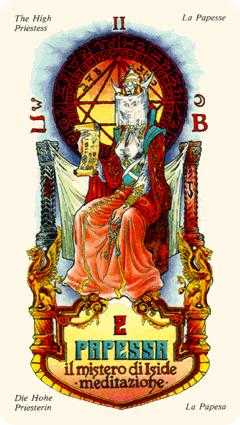 The High Priestess Tarot Card - Stars Tarot Deck