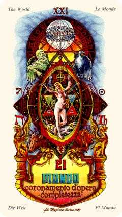 The World Tarot Card - Stars Tarot Deck
