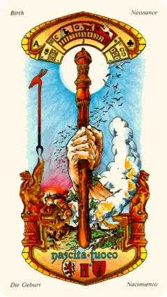 Ace of Pipes Tarot Card - Stars Tarot Deck