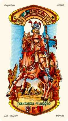 Knight of Batons Tarot Card - Stars Tarot Deck