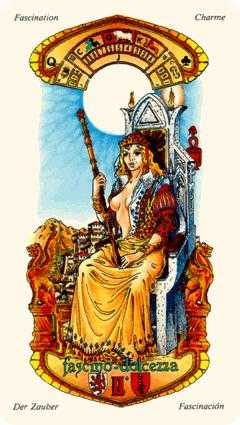 Queen of Clubs Tarot Card - Stars Tarot Deck