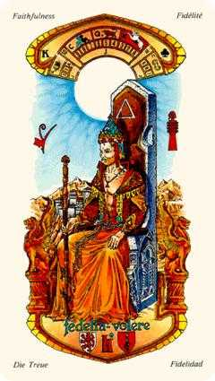 King of Staves Tarot Card - Stars Tarot Deck
