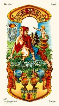 Six of Cups Tarot Card - Stars Tarot Deck