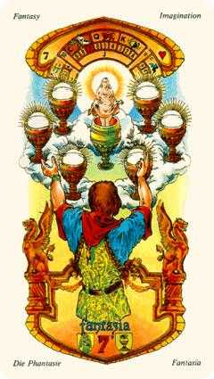Seven of Cups Tarot Card - Stars Tarot Deck