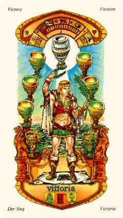 Nine of Bowls Tarot Card - Stars Tarot Deck