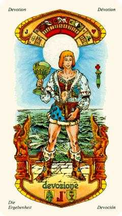 Valet of Cups Tarot Card - Stars Tarot Deck