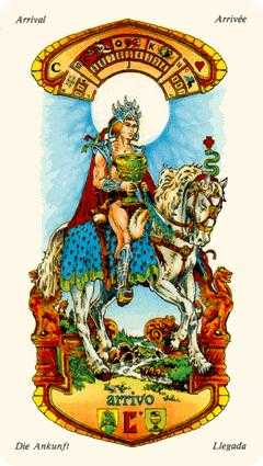 Cavalier of Cups Tarot Card - Stars Tarot Deck