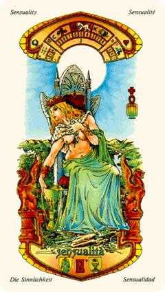 Queen of Hearts Tarot Card - Stars Tarot Deck