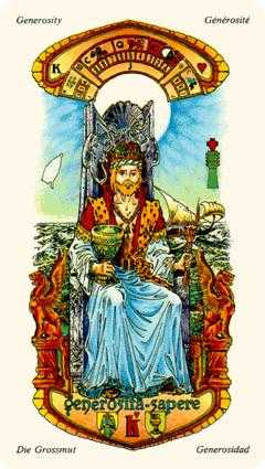 Roi of Cups Tarot Card - Stars Tarot Deck