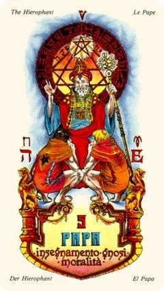 The Pope Tarot Card - Stars Tarot Deck