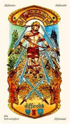 Eight of Spades Tarot Card - Stars Tarot Deck
