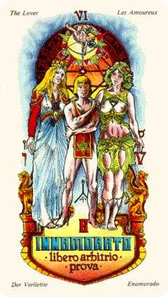 The Lovers Tarot Card - Stars Tarot Deck