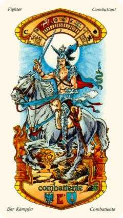 Warrior of Swords Tarot Card - Stars Tarot Deck