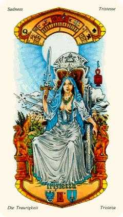 Queen of Spades Tarot Card - Stars Tarot Deck