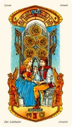 Five of Diamonds Tarot Card - Stars Tarot Deck
