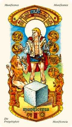 Six of Stones Tarot Card - Stars Tarot Deck