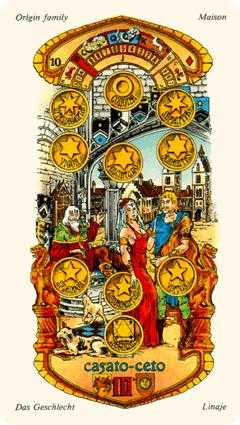 Ten of Coins Tarot Card - Stars Tarot Deck