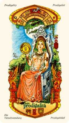 Queen of Coins Tarot Card - Stars Tarot Deck