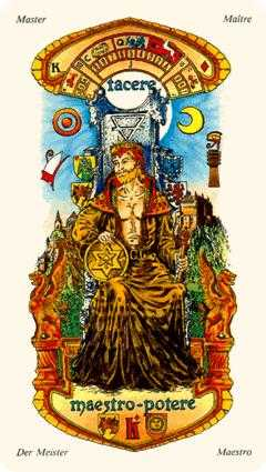 King of Buffalo Tarot Card - Stars Tarot Deck