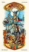 Knight of Swords Tarot card in Stars Tarot deck